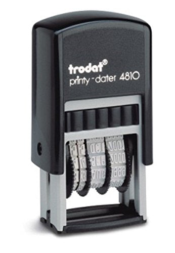 NEW Trodat Printy 4810 Self Inking Small Date Stamps RED INK)