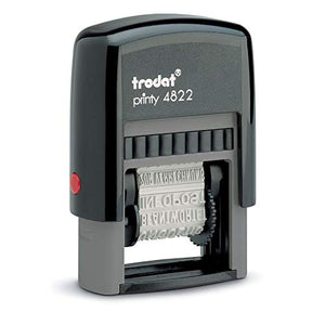 Trodat 4822 Printy Self-Inking 12 Message Stamp, Red Ink
