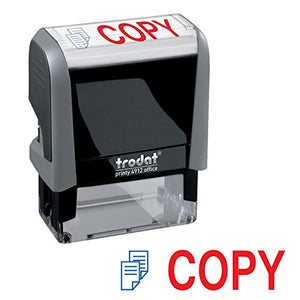 Copy Trodat Printy 4912 Self-Inking Two Color Stock Message Stamp