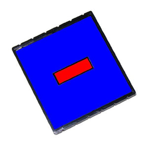 Q43 Replacement Pad for the 2000 Plus Q43 and Q43 Dater Self-Inking Stamp (2 Color Blue/Red)