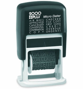 Phrase Stamp, Self-inking, 12 Common Messages