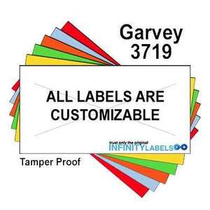 80,000 Garvey Compatible 3719 Fluorescent Orange General Purpose Labels to fit the G-Series 37-12/12, G-Series 37-6P, G-Series 37-7P Price Guns. Full Case.