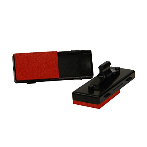 Trodat 6 Wheel Numbering Machine Replacement Ink Pad with Red Ink, Box of 5 Pads