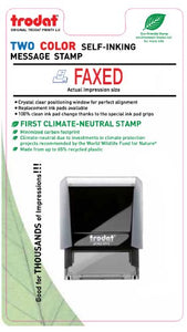 1 X Faxed Two Color Message Stamps