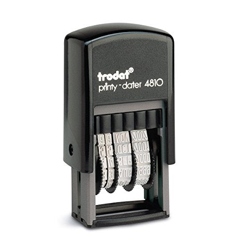 Trodat Printy 4810 Date Stamp, Iso Version, 3.8 Mm Black