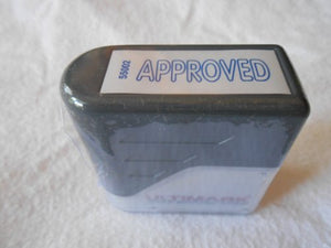 "Approved Stock Message Stamp 3/8"" X 1-3/8"""