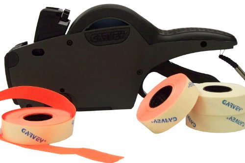Garvey, 22-8 Digit Single Line, Price Marking Gun Date Code Labeler, 5-count White and 5-count Red Blank Kit