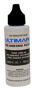 Ultimark Ink to Re-ink Ultimark and Royal Mark Pre-inked Stamps (Black)