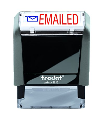 Trodat Printy 65% Recycled 4912 Self-Inking Message Stamp, Emailed