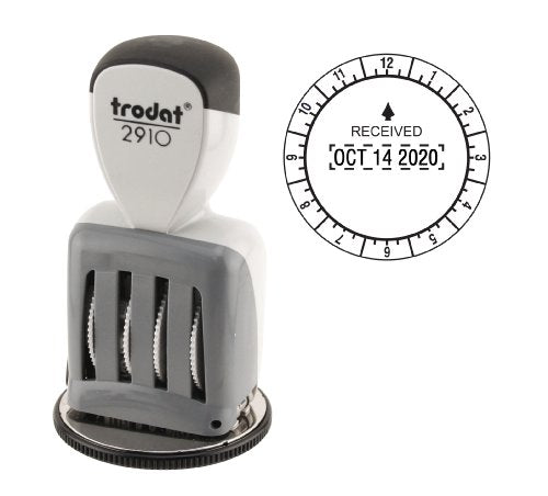 Trodat T2910 Round Stamp, Time and Date Received, Conventional, Two- Inch Diameter