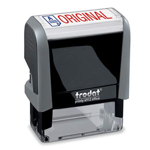 Original Trodat Printy 4912 Self-Inking Two Color Stock Message Stamp