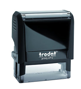 BLACK NEW Replacement Ink Pad for TRODAT Printy 4912 Self Inking Stamps by Trodat