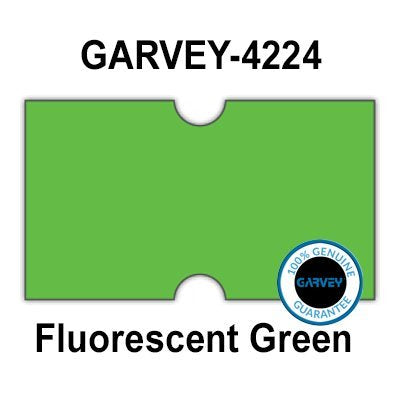 240,000 Genuine GARVEY 2112 FL Green General Purpose Labels: Full case - no Security cuts [Compatible w/Motex MX-5500, Towa 1 Line, Jolly, Hallo, Freedom and Impressa 2112 Punch Hole (PH) Labelers]