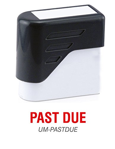 PAST DUE - Ultimark Stock Message Pre-Inked Stamp
