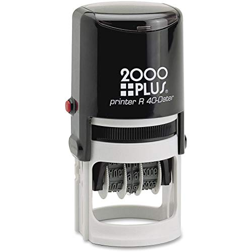 COSCO 2000 Plus Self-Inking Date and Time Stamp - Date & Time Stamp - Red, Blue