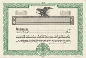Duke 10 Stock Certificates (Pack of 25)