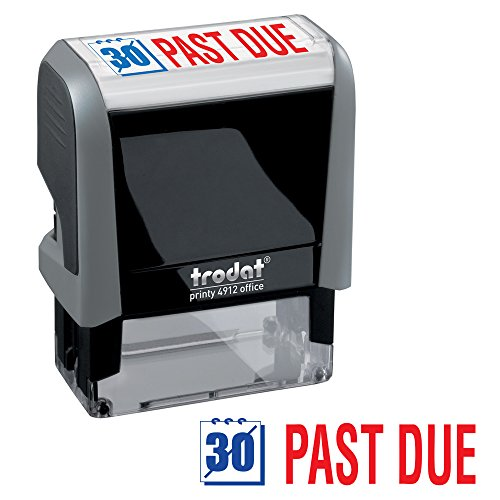 Past Due Trodat Printy 4912 Self-Inking Two Color Stock Message Stamp