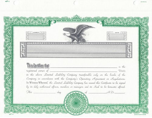 Duke 16 Limited Liability Company Certificates (Pack of 15)