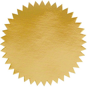 2 Inch Blank Embosser Seals - Gold (500 Pack)