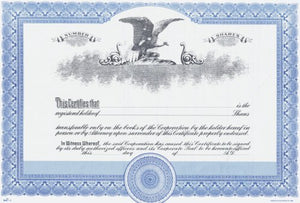 Duke 3 Stock Certificates (Pack of 25)