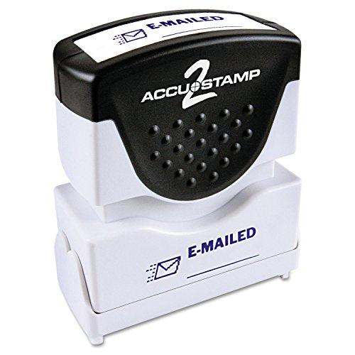 ACCUSTAMP2 035577 Accustamp2 Shutter Stamp with Microban, Blue, EMAILED, 1 5/8 x 1/2 (COS035577)