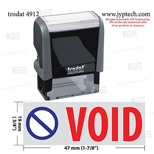 Trodat 4912 Rectangle Stock 2 Colors Self Inking Rubber Stamp With Void With Pic
