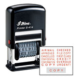 Shiny Self-Inking Rubber Stock Phrase Stamp - RED Ink - S-414 (42518-R)