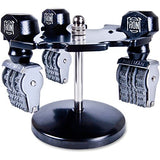 COSCO Revolving Caster Stamp Rack - Metal - 1 Each - Black, Silver
