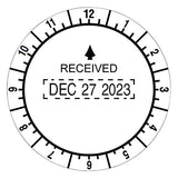 Trodat T2910 Trodat Round Stamp, Time and Date Received, Conventional, Two-Inch Diameter