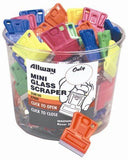 Allway Tools Mini Glass Scraper, Bucket of 100 Scrapers, Remove Stickers, Glue, Tape, Gum
