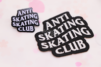 Anti Skating Skating Club Iron-On Embroidery Patch