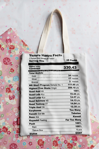 Nutrition Facts Tote Bag [Sweet Skating Series VOLUME 1]