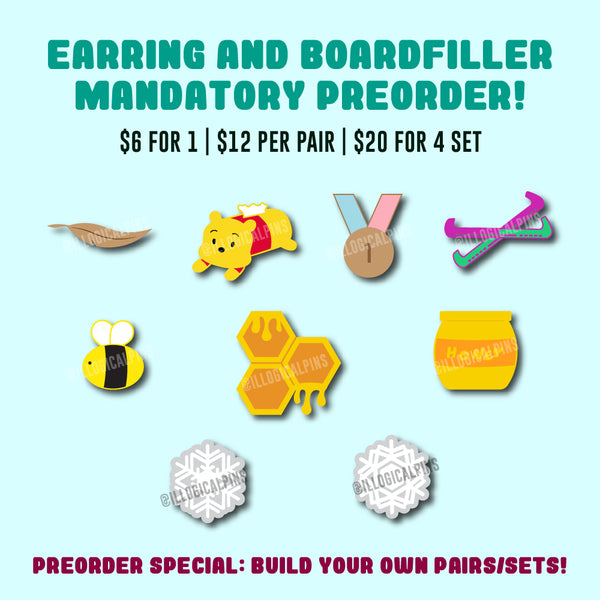 [PREORDER] Build Your Own Boardfiller/Earring Set!