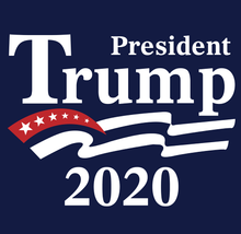 Load image into Gallery viewer, President Trump 2020 Blue Long Sleeve