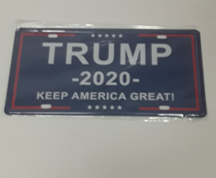 Trump 2020 Keep America Great License Plate