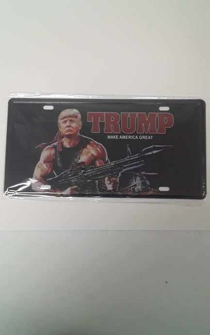 Trump Make America Great License Plate