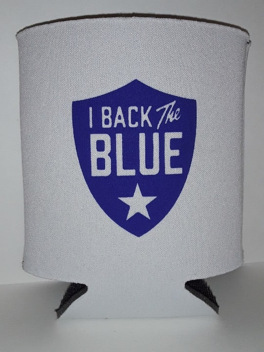 I Back The BLUE Beer Koozie