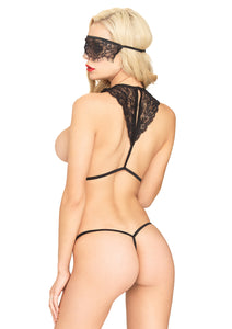 Black Alexandra 3 Piece Scandal Set with Body Harness and Matching G-String