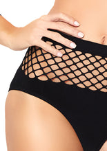 Load image into Gallery viewer, Black Isabelle 2 Piece Industrial Net Long Sleeved Crop Top and Matching Bottom