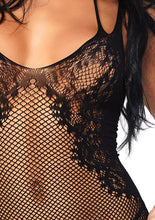 Load image into Gallery viewer, Black Georgia Seamless Net And Lace Dual Strap Halter Dress