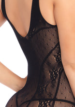 Load image into Gallery viewer, Black Alice Seamless Lace Mini Dress