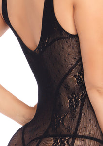 Black Alice Seamless Lace Mini Dress