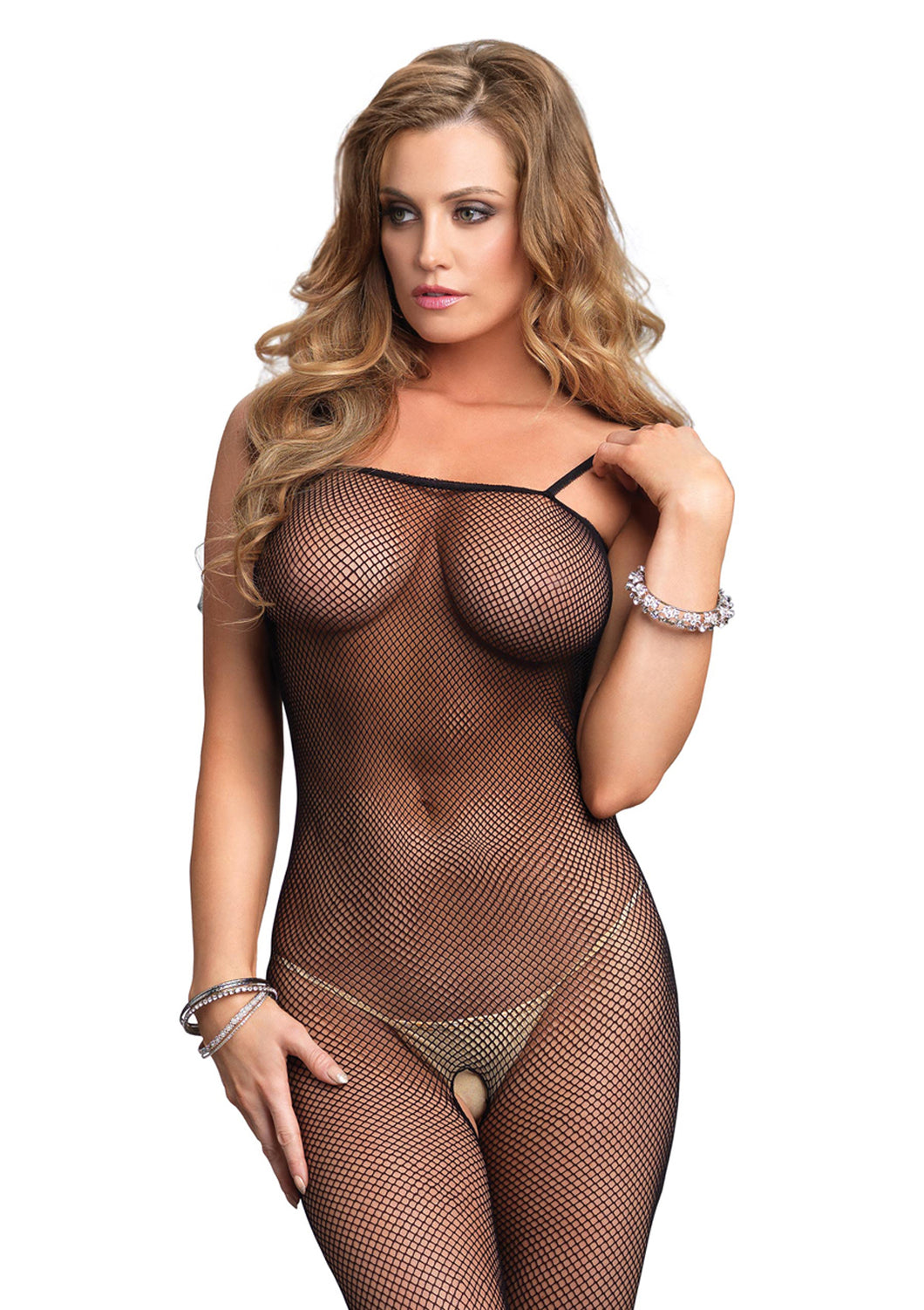 Black Meg Fishnet Body Stocking