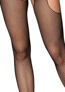 Black Jennifer Fishnet Suspender Bodystocking