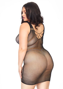 Black Ruth Seamless Micro Net Hourglass Mini Dress