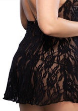 Load image into Gallery viewer, Black Allie Halter Rose Lace Dress