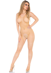 Nude Olivia Crystalized Fishnet Tank Bodystocking
