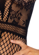 Load image into Gallery viewer, Black Melissa High Neck Floral Lace Bodysuit