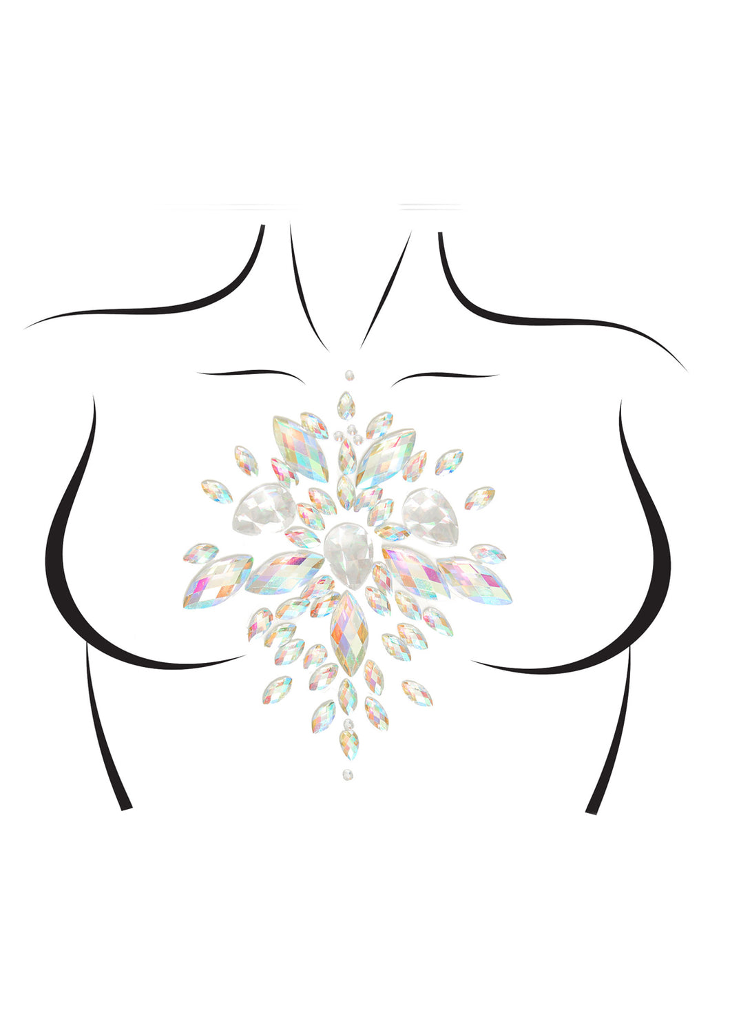 Clear Joanna Celestial Adhesive Body Jewels Sticker