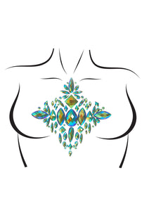 Teal Haley Ocean Adhesive Body Jewels Sticker